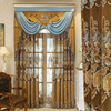 European Style Curtains for Living dining Room Bedroom High-end Hollow Embroidery Curtains Imitation Cashmere Fabric Curtains