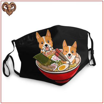 2020 Women Men facemasks masks Corgi Japanese Ramen breathable reusable washable adjustable cotton skin care face shield masks