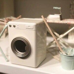 Casa de metal nórdica para crianças, mini máquina de lavar roupa acessórios de móveis para meninos e meninas