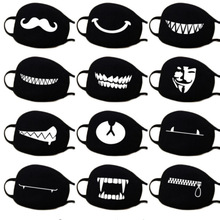 Halloween Mask For Mouth Medical Anti Dust Winter Face Mask Black Anime Mouth Anti Pollution Mask Motorcycle Face Masquerade