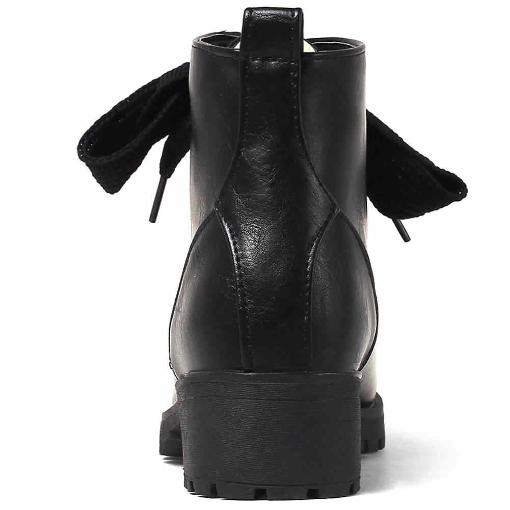 BONJOMARISA 33-44 Elegant Retro แพลตฟอร์มรองเท้าผู้หญิง lace-up ข้อเท้ารองเท้าผู้หญิง 2019 Med กว้างรองเท้าส้นสูงรองเท้าผู้หญิง