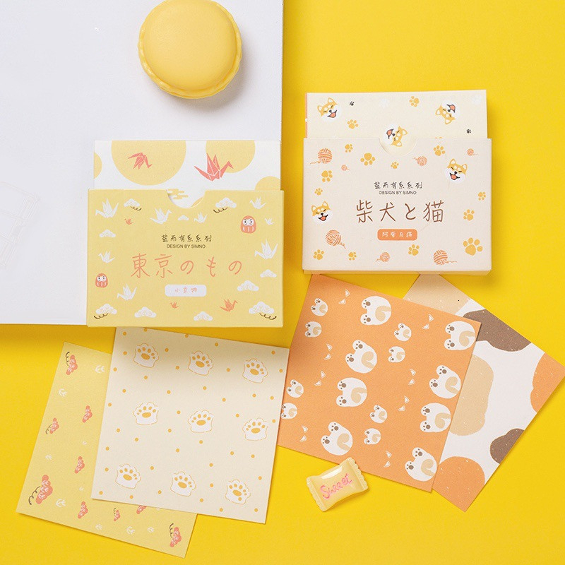 SIXONE 48 Sheets Creative Decorative Message Cards Cute Postcard Practical Greeting Card Gift Card Memo Pad