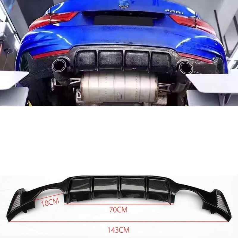 อุปกรณ์เสริมตกแต่ง Moldings Auto Parts Tunning จัดแต่งทรงผมด้านหลัง Diffuser ริมฝีปากด้านหน้ารถกันชน 14 15 16 17 18 สำหรับ BMW 4 ชุด