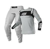 Grigio 2021 MX/ATV Racing 360 Flexair Mach Gear Set Motocross moto MX MTB ATV Dirt Bike Offroad Suit Mens kit