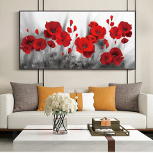 Red Poppy flowers Canvas Paintings On the Wall Art Posters And Prints Poppy Flowers Canvas Art Pictures For Living Room Cuadros african large lions face canvas paintings on the wall art posters and prints animals lions art pictures for living room cuadros