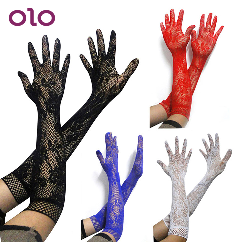 OLO SM Bondage Adult Games Fetish Long Elastic Sexy Arm Sleeve Sex Lace Glove Sex Toys For Women Girl Erotic Toys For Party