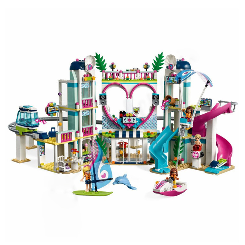 Legoinglys 41347 New Friends The Heartlake City Resort Friends Building Block Brick Toys Girl Children Christmas Gifts