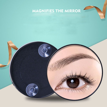 desktop 36led facial makeup mirror compact size 180 degree rotation tabletop cosmetic makeup mirror with magnification new Portable Vanity Makeup Mirror Magnification With Two Compact Suction Cups Cosmetic Round Mirror Tools 2/3/5/10/15X Magnifying