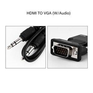 Image 3 - Adaptador hdmi para vga fêmea macho, conversor de vídeo e cabo de áudio analógico digital para ps3 pc laptop tv box monitor projetor