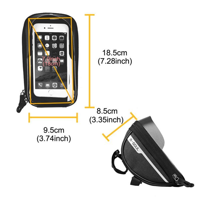 Bicycle Cycling Bike Head Tube Handlebar Phone Bag Case Holder Phone Mount Waterproof Touchscreen MTB Cycling Bag Accessories 3