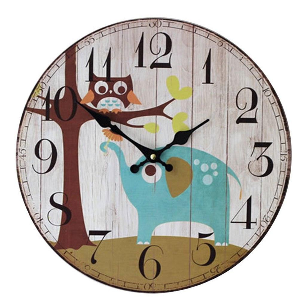Cute Elephant Owl Wall Clock Wall Clock Fashion Decoration Living Room  Wall Decor Saat Home Watch Wall Gift