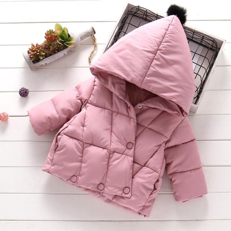 Casaco de inverno para meninas, jaqueta quente