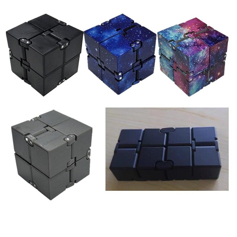 Премиум металлический Бесконечность куб игрушка алюминиевая деформация волшебный куб игрушки для детей снятие стресса для EDC беспокойство