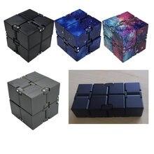 Prêmio metal infinito cubo brinquedo de alumínio deformação cubo mágico brinquedos para chilren stress reliever para edc ansiedade