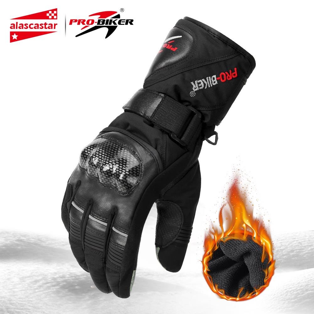 Waterproof Motorcycle Gloves Winter Moto Gloves Thermal Fleece Lined Winter Touch Screen Non-slip Motorbike Riding Gloves