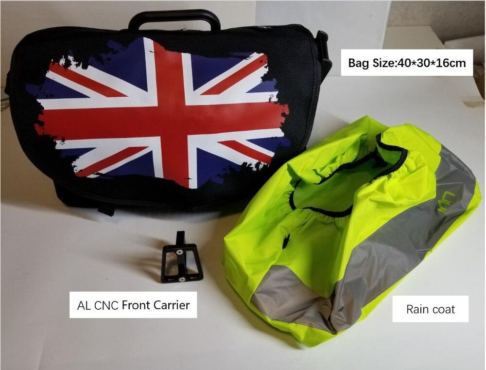Bike Basket Bag for Brompton Vegetable Basket DuPont Waterproof Fabric S bag