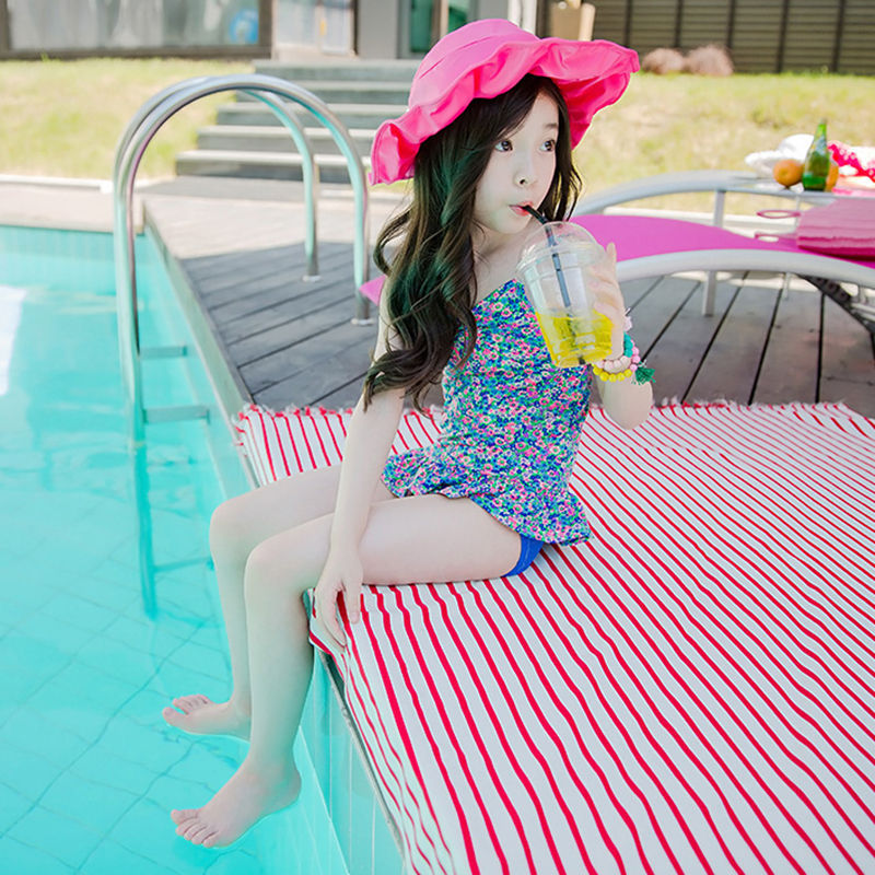 Floral-Print Princess New Products South Korea Size CHILDREN'S Swimsuit Cute Split Type Bikini Siamese Swimsuit Toilet Edition