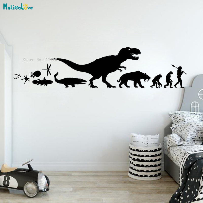 Biological Evolution Wall Sticker Home Decor Changes Of The Times For Kids Baby Room Nursery Classroom Decals Vinyl YT4307