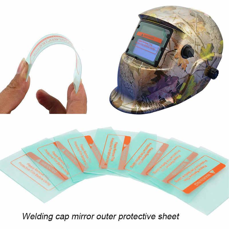 溶接機マスクレンズ透明 Replaceman ソーラー自動遮光溶接ヘルメットレンズ自動顔の目保護抗 Uv