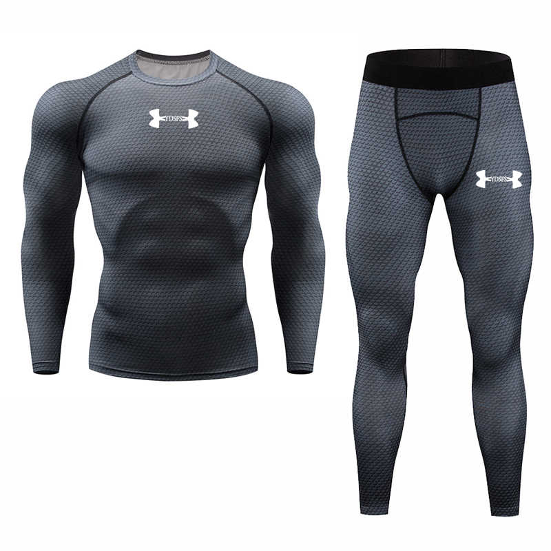 Rashguard Compression Men's Sport Suits Quick Dry Running sets Clothes Sport Jogger Training Gym Fitness Tracksuits Running Suit