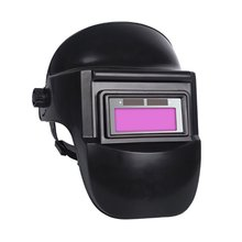 BK Welding Mask Automatic Dimming Glasses Anti-baked Face Half Helmet Head-mounted Full Face Protection Mask Welder Special head mounted welding helmet black against ultraviolet ray protective mask pc safety headgear face shield mask glasses