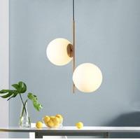 Art deco glass ball fancy chandelier European style led pendant lamp for restaurant bedroom dining room