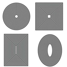 Metal Cutting Dies for DIY Scrapbooking Crafts rectangle Circle Square Oval Frame Die Cut Stencils Make Paper Album Template square star heart rectangle circle dies frame metal cutting die for diy scrapbooking paper cards die cuts photo album making