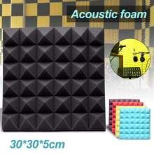 Новейшие 30*30*5 см студийные акустические звукоизоляционные пены звукопоглощающие лечение панель плитка Клин Защитная губка