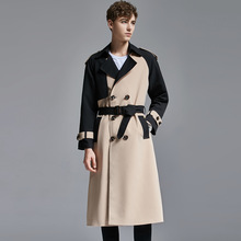 Causal Coat Long-Trench Vintage Male Men's Spring/autumn Double-Breasted Extra England