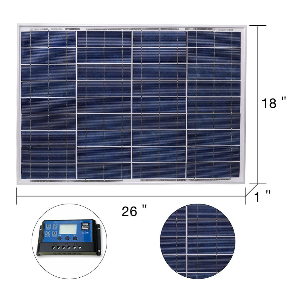 Image 3 - DOKIO 18V 40W Polycrystalline Solar Panel 460*660*25mm Silicon Power Painel Top Quality Solar Battery china Solar Fotovoltaicosolar fotovoltaicopolycrystalline solarpolycrystalline solar panel - AliExpress