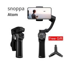 Snoppa Atom GoPro Hero 4 5 6 iPhone 스마트 폰 및 무선 충전 용 3 축 접이식 포켓 크기의 핸드 헬드 짐벌 안정기