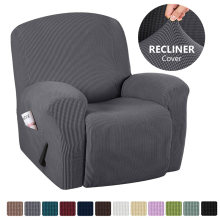 Super Stretch Jacquard Recliner Chair Cover Elastic Sofa Cover Living Room Velvet Couch Slipcover Armchair Cover for Furniture