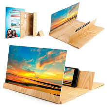 Bildschirm Verstärker 3D Telefon Bildschirm Amplificateur amplificador pantalla telefono Holz Bildschirm Vergrößern Lupe mit Klapp Halter