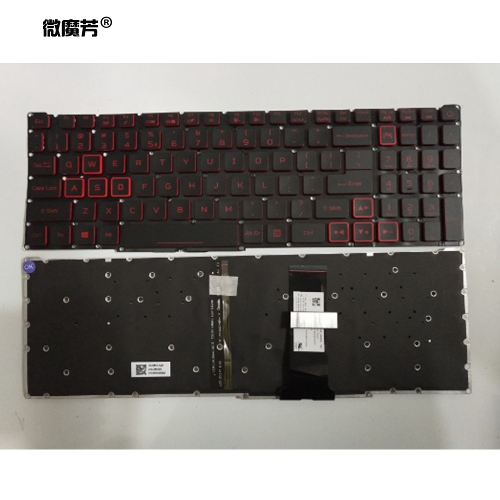 US Laptop Keyboard LG5P For Acer Nitro 5 AN515 54 AN515-54 Nitro7 Nitro 7 AN715 51 AN715-51 Notebook Keyboard With Backlit