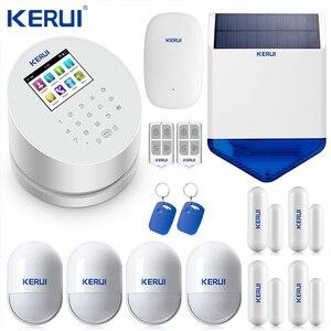 Image 1 - KERUI W2 Wifi GSM PSTN الهاتف الثابت الرئيسية إنذار التطبيق ISO 433MHz TFT شاشة تتفاعل نزع سلاح مكرر إشارة صفارات الإنذار الشمسية