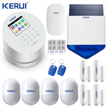 KERUI W2 Wifi GSM PSTN telefono fisso allarme domestico APP ISO 433MHz schermo TFT RFID disinserimento ripetitore di segnale sirena solare