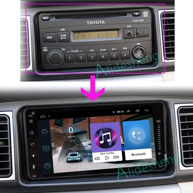 TOYOTA logo symbol 2din uniwersalny Android 9.0 samochodowe akcesoria radiowe odtwarzacz samochodowe Multimedia dla toyota COROLLA yaris CAMRY RAV4