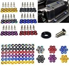 Tornillos pasadores hexagonales JDM para coche, arandela de parachoques, motor cóncavo, arandela, pernos de placa de matrícula, M6, 10 Uds.