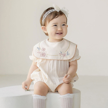 MILANCEL baby girls clothes elegant baby bodysuits 100 days toddler girls one piece square collar baby outerwear cheap COTTON Novelty MIL0523 Floral Short Fits true to size take your normal size 6m-3T 66-73-80-90-100 6M-9M-12M-24M-3T