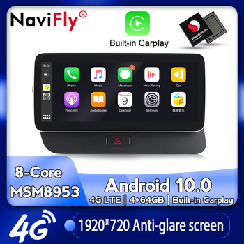 Wireless carplay Android 10.0 Car multimedia Player for Audi Q5 2009-2017 GPS navigation 12.5 inch IPS 1920*720 4G LTE image