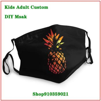 High Quality Tropical Sunset Pineapple California mascarillas con filtro estampadas masque en tissu lavable enfant