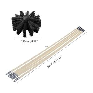 Image 5 - 1 conjunto de escova de náilon com 6 pçs cabo longo flexível tubo hastes para chaminé chaleira casa limpeza kit ferramenta