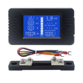 DC Voltmeter Amperemeter Power Energie Digital Spannung Strom Kappe Ohm Stunde SOC Meter LCD DC 60-200V 10A /50A/100A/200A/300A Shunt