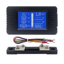 Voltmetro cc amperometro potenza energia tensione digitale tappo corrente Ohm ora misuratore lgbt LCD DC 60-200V 10A/50A/100A/200A/300A