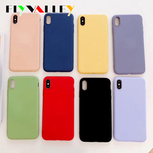 Luxury Soft Back Matte Color Cases for iPhone 7 plus 8 6 6s X XS max XR 11 Pro Max Case Shockproof TPU Silicone Back Cover Capa luxury shockproof transparent silicone case for iphone x xs max 11 pro xr soft phone capa for iphone 8 7 6 6s plus 11 back cover