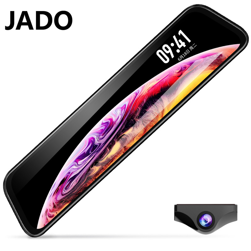 JADO G840S Driving recorder 12 Inch Full Screen Night Vision Front and Rear HD dual recording Front 1296P Rear 1080P Anti fog|DVR/Dash Camera| |  - title=