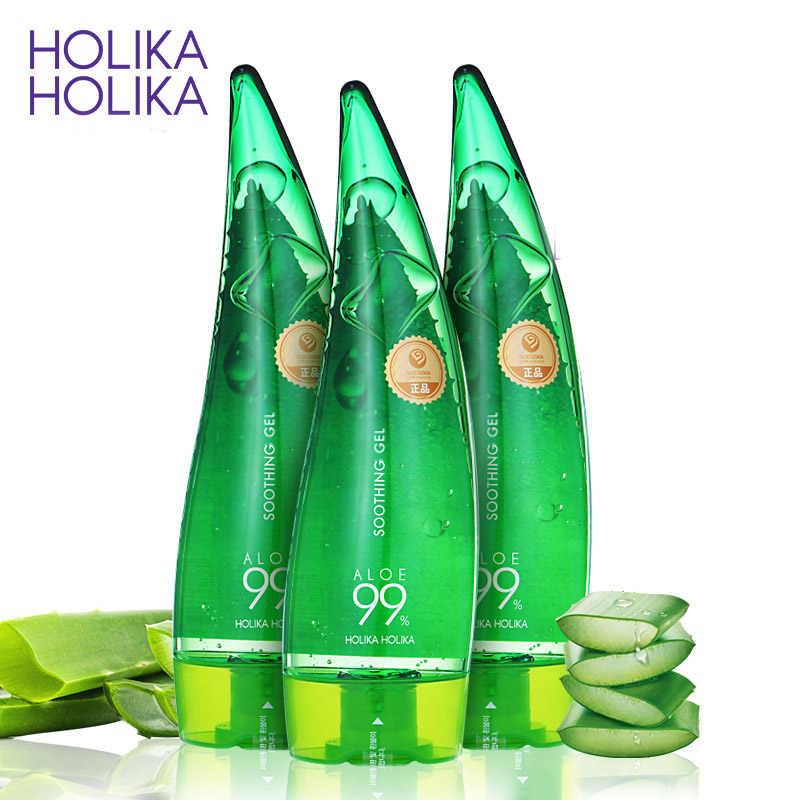 HOLIKA HOLIKA HOLIKA HOLIKA 99% Aloe Soothing Gel Gel Lô hội Chăm Sóc Da Loại Bỏ Mụn Dưỡng Ẩm Ban Ngày Sau Khi Mặt Trời Loại Kem Dưỡng Aloe gel 55ml