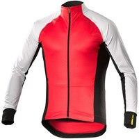 Mavic Winter Thermal Fleece Jersey Men Bicycle Long Sleeve Cycling Jacket Outdoor Keep Warm Mountain Road Uniform Bike Clothes
