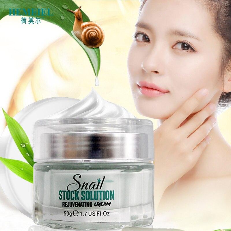 HEMEIEL Snail Cream Korean Cosmetics Anti-Aging Face Rejuvenating Moisturizer Hydrating Day Cream Brighten Whitening Skin Care