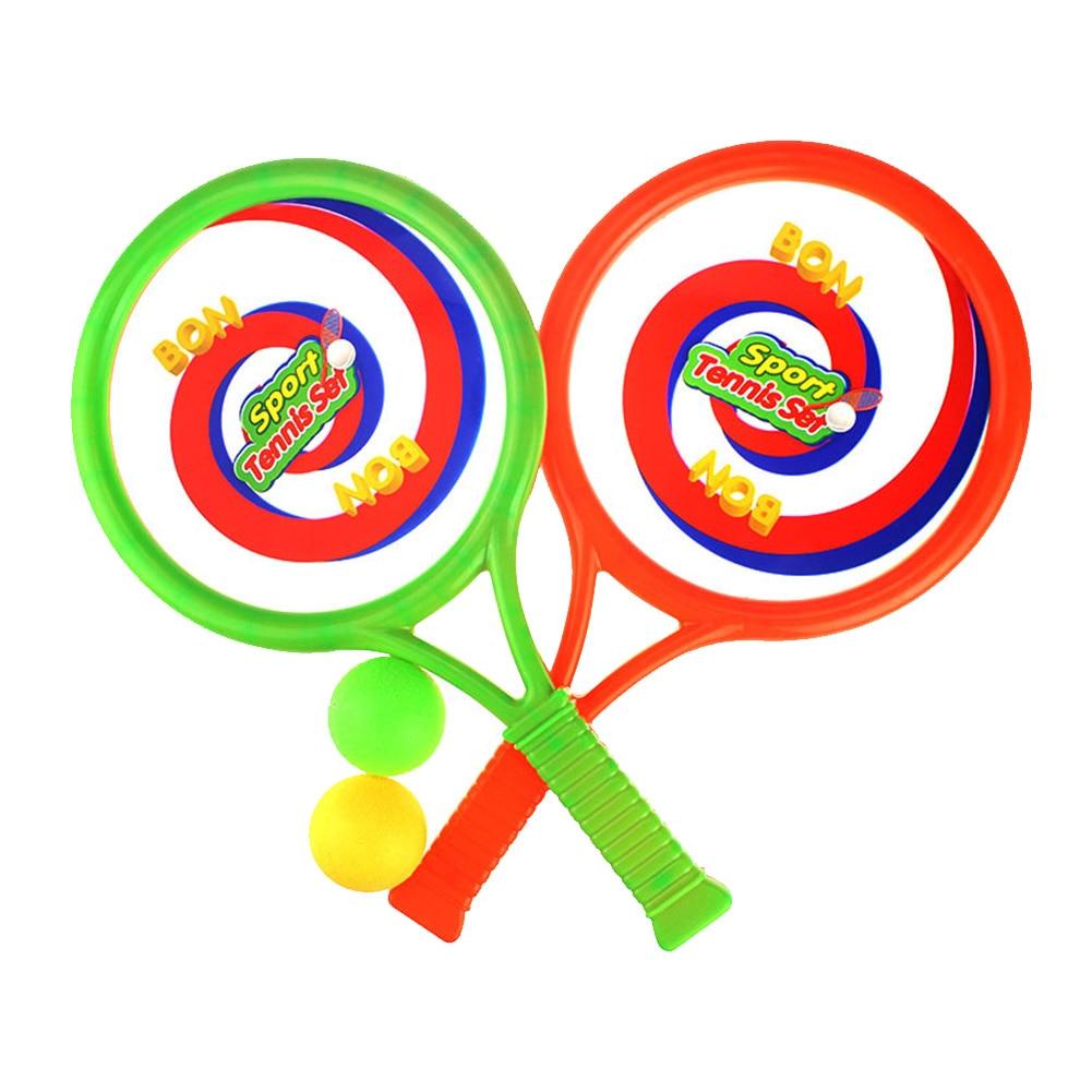 Kids Tennis Racket Garden Children Fitness Portable Parent-child Game Plastic Intelligence Developing Beach Practical Training